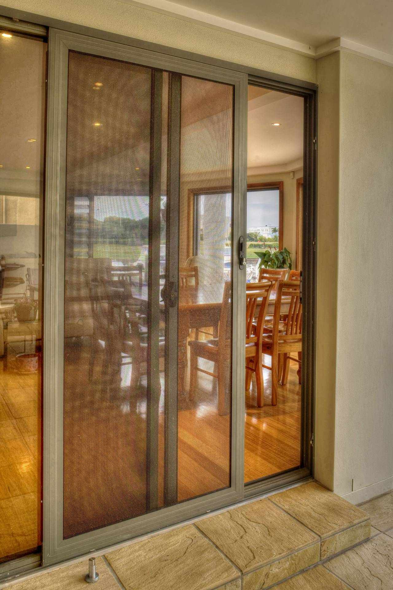 Screen Mesh Security Sliding Doors