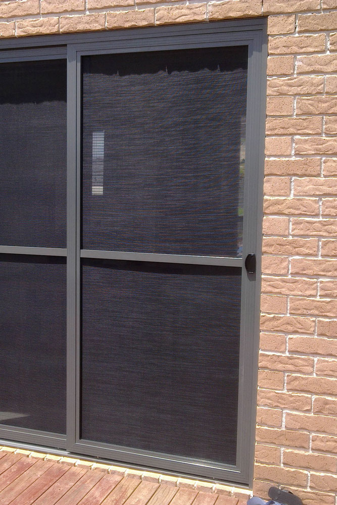 Fly screen mesh sliding doors made installed valesco for Sliding screen door frame